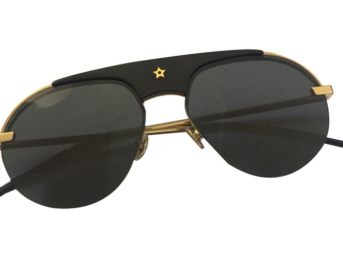 8039c62458fa1 Christian Dior revolution glasses Sunglasses Metal Black ref.84463 ...