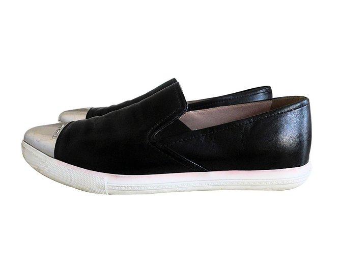1cfd080c337e Miu Miu Leather loafers Flats Leather Black