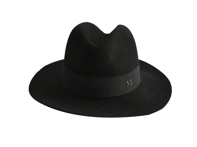 Maison Michel Virginie model Hats Wool Black ref.84610