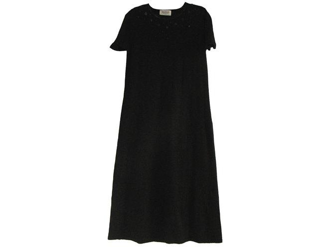 Robes Balmain Robe à paillettes Laine Noir ref.84627