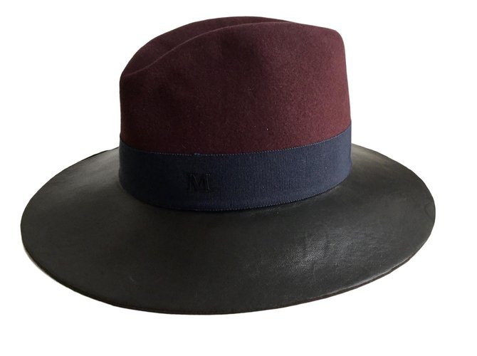 Maison Michel Virginia Hats Leather Multiple colors ref.84644