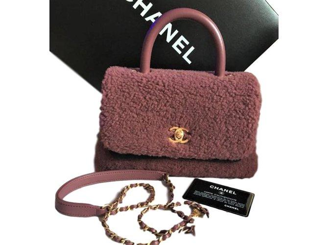 Sacs à main Chanel Mini Shearling Coco édition limitée Fourrure Marron ref.84764