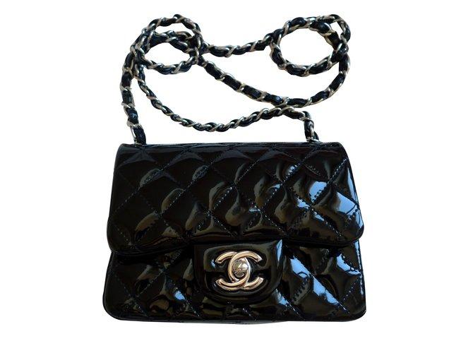 ec8f3792be1acc Chanel Handbag Handbags Patent leather Black ref.84801 - Joli Closet
