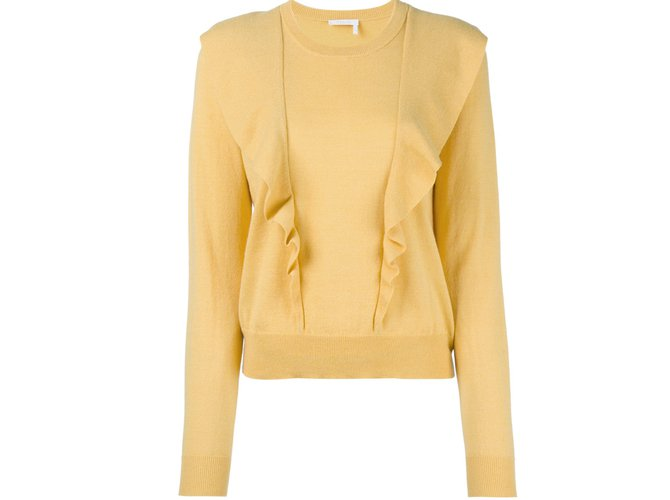 Chloé pulls, vests Knitwear Cashmere Yellow ref.84803