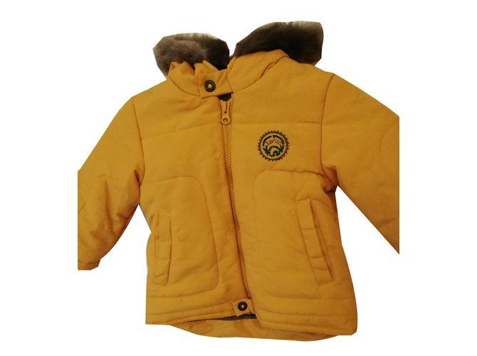 Kenzo Boy's coat Boy Coats Outerwear Cotton Mustard ref.84883
