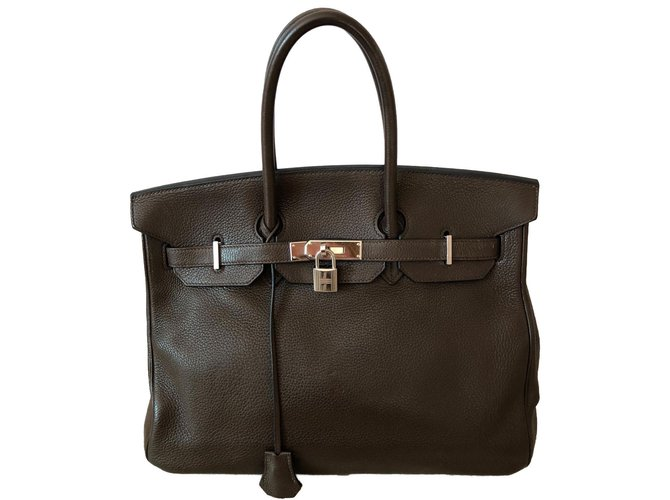 Hermès Sac à main Handbags Leather Brown ref.85069