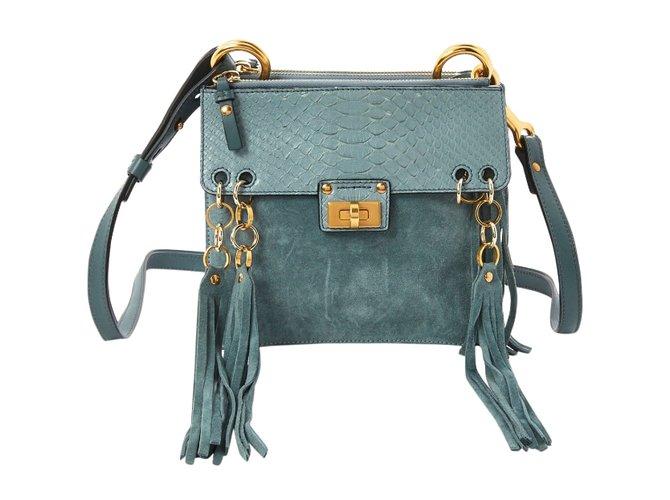 Chloé Jane Handbags Leather Blue ref.85096