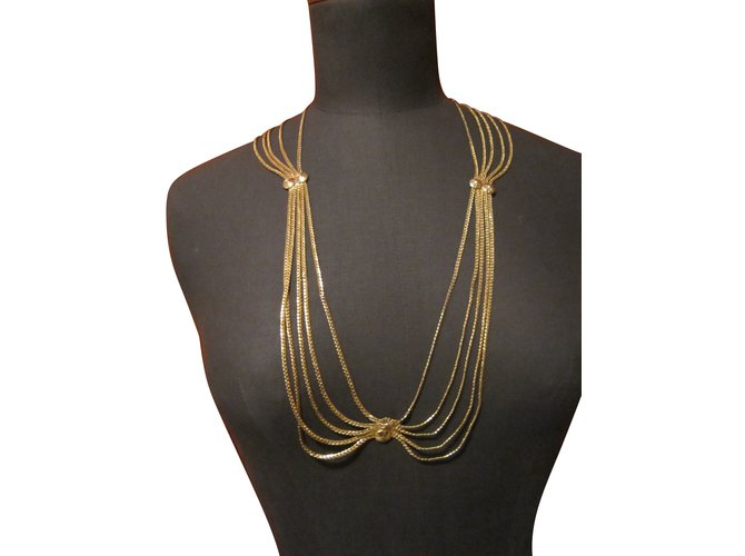 Christian Dior Necklaces Necklaces Gold-plated Golden ref.85209