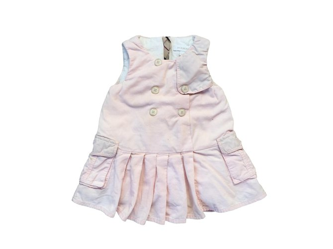 Robes fille Burberry Robes fille Coton Rose ref.85274