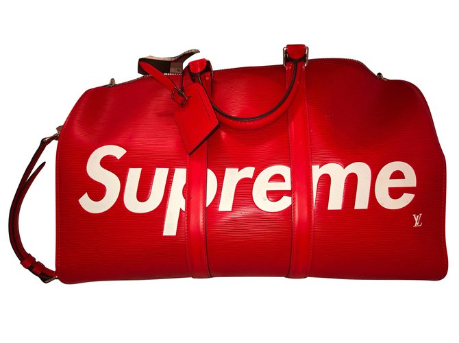 fa7bbd7a3d1 Louis Vuitton Louis Vuitton x Supreme Bags Briefcases Leather Red ref.85314