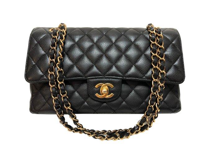 74b1a6da5a Sacs à main Chanel Timeless caviar noir moyen Cuir Noir ref.85385 ...