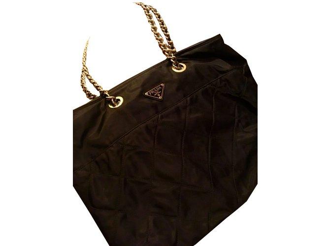 Prada Tote Totes nylon Black ref.85404 - Joli Closet b10b431cd2