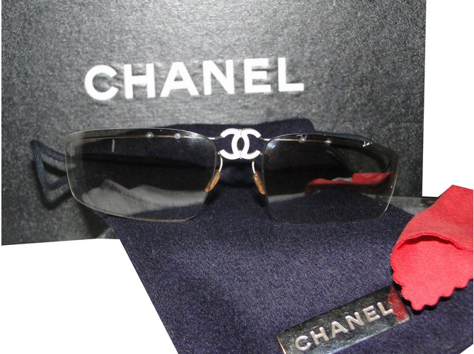 Lunettes Chanel Lunettes de soleil chanel Acier Argenté ref.85428 ... de66b402fdb6