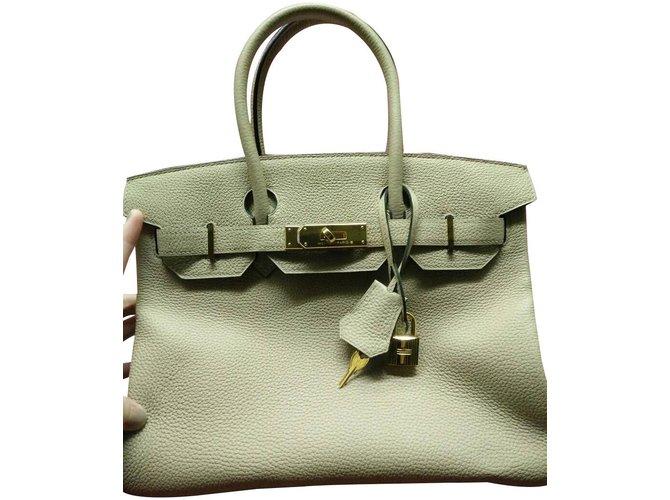 5a3d974cbff80 Hermès Birkin 30 Trench Togo GHW Handbags Leather Beige ref.85457 ...