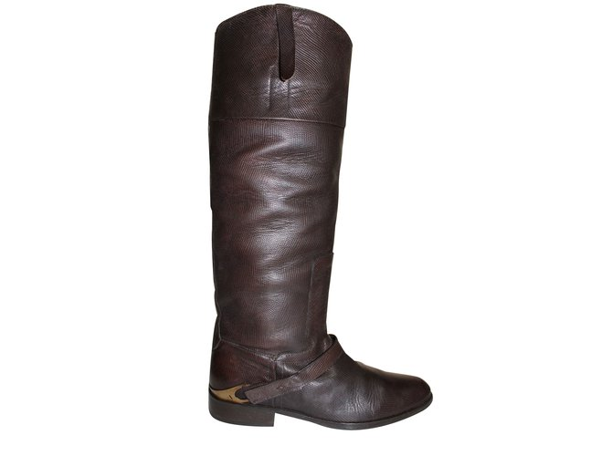 Golden Goose Riding boots Boots Leather