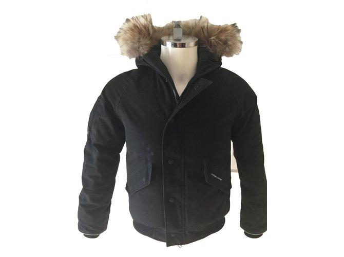 Blousons, manteaux garçon Canada Goose Manteaux de garçon Polyester Noir ref.85536