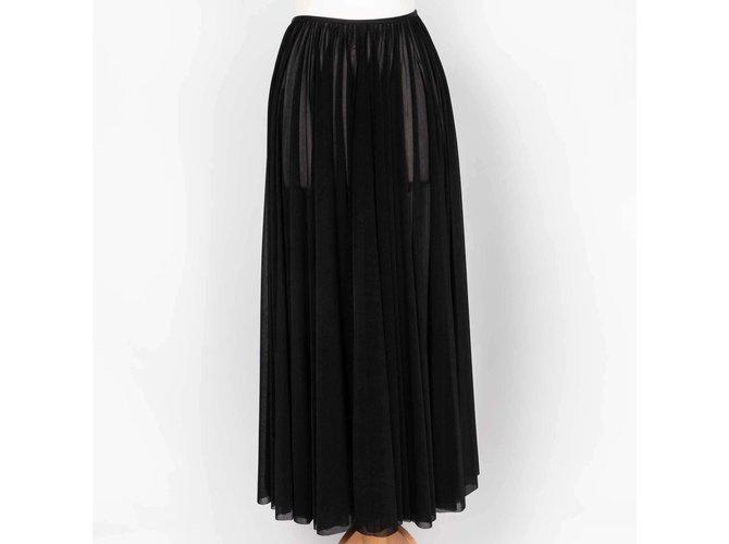 Céline long skirt Skirts Polyester Black ref.85632