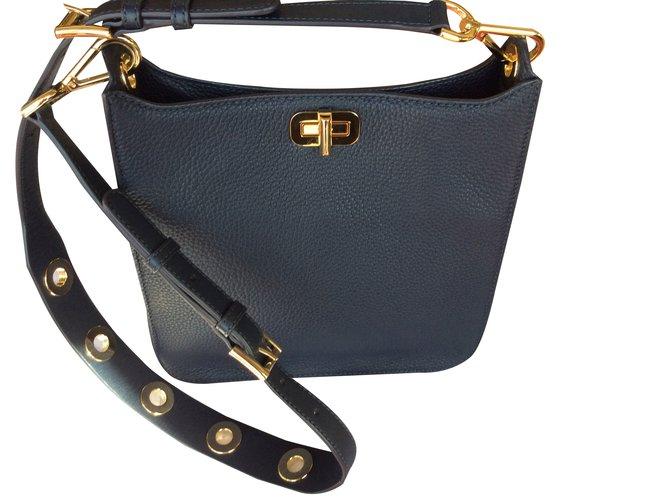 2c843fc8d36512 Michael Kors Shoulder bag Handbags Leather Navy blue ref.85747 ...