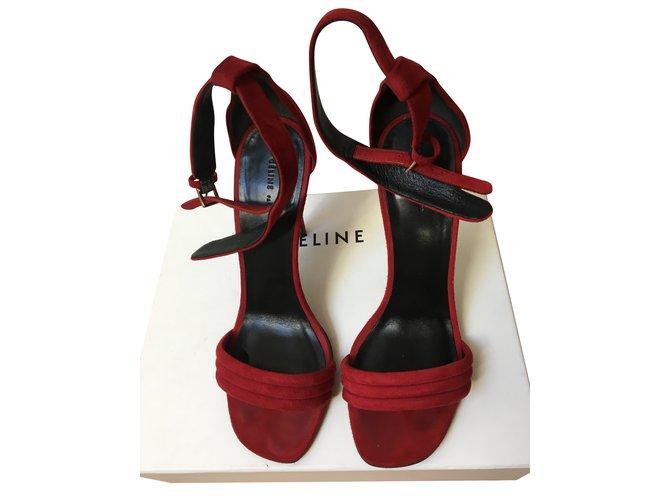Céline sandals Sandals Deerskin Red ref.85961