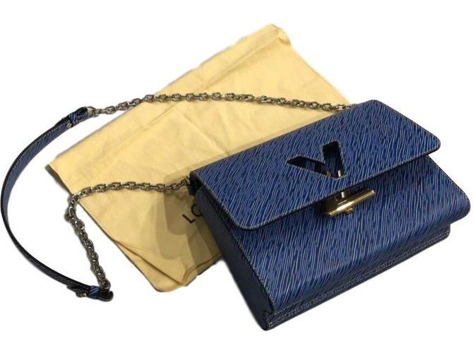 Louis Vuitton Twist GM denim light epi leather Handbags Leather Blue ref.86033