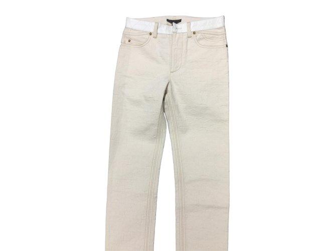 Jeans Louis Vuitton jeans Jean Blanc cassé ref.86126