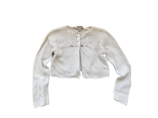 Burberry Cashmere cardigan Sweaters Cashmere Eggshell ref.86403