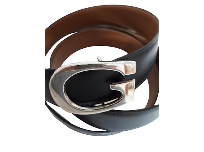 Ceintures homme Gucci Ceinture homme Cuir Noir ref.86465 - Joli Closet 03f57d04223