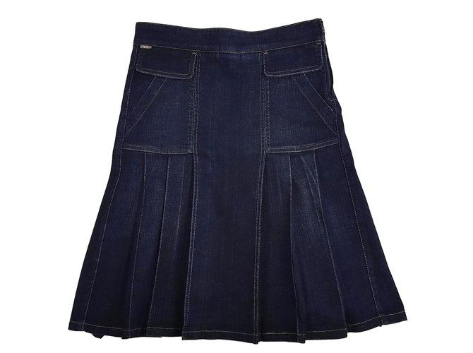 Burberry Skirts Skirts Denim Dark blue ref.86512