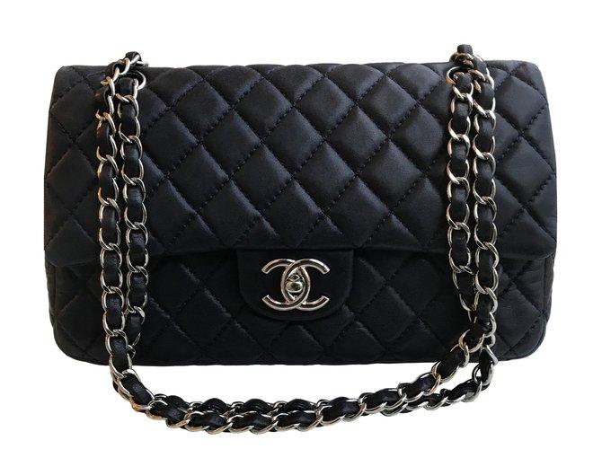 55dd3b0493d Chanel Medium Double Flap Timeless Bag Handbags Leather Blue