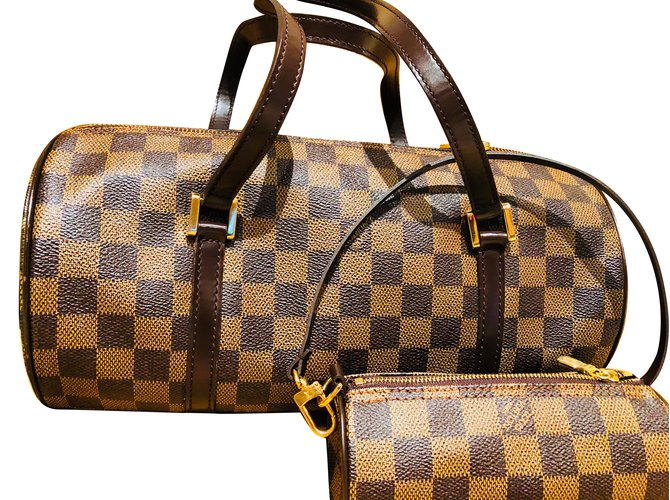 df29a53ce31c Louis Vuitton Vuitton Checkered Butterfly Handbag Handbags Cloth Brown  ref.86641