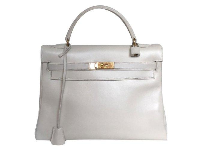 c3d0651921ac Hermès Kelly Handbags Leather White ref.86647 - Joli Closet