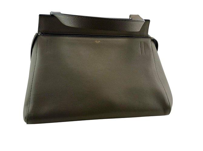 56dbd233cb66 Céline Celine Edge light brown leather Handbags Leather Taupe ref.86823