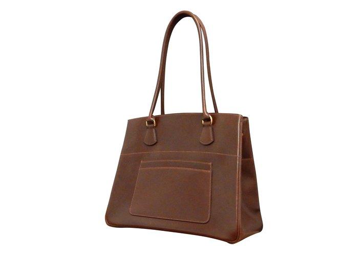 Hermès LA Brown Box Calf Leather Handbag Tote bag Handbags Other Brown  ref.86888 362046f1546