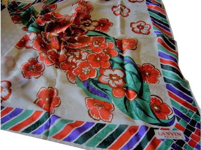 Carrés Lanvin Carré Soie Multicolore ref.86968