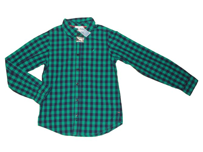 Jacadi Shirt Tops Tees Cotton Green ref.87021