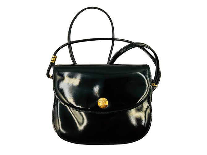 105f0c9a40 Céline Handbags Handbags Patent leather Black ref.87042 - Joli Closet