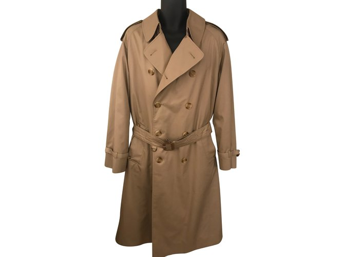 Aquascutum Men Coats Outerwear Men Coats Outerwear Cotton Beige ref.87087