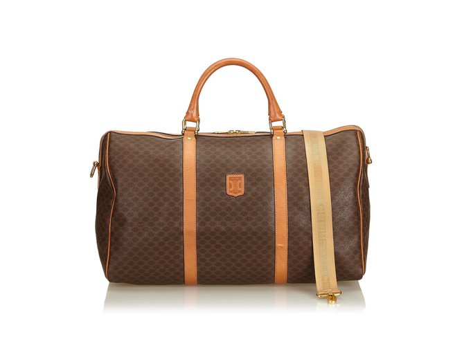 df85ce0774de Céline Macadam Duffle Bag Travel bag Leather