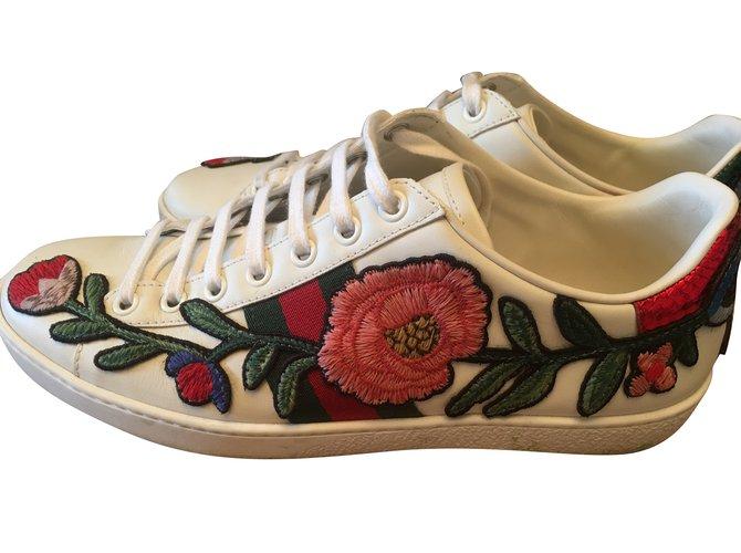 b702a2f9b806 Gucci Ace Sneakers Leather White ref.87221 - Joli Closet