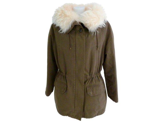 Yves Salomon ARMY Y Park. Salomon Coats, Outerwear Fur Khaki ref.87255