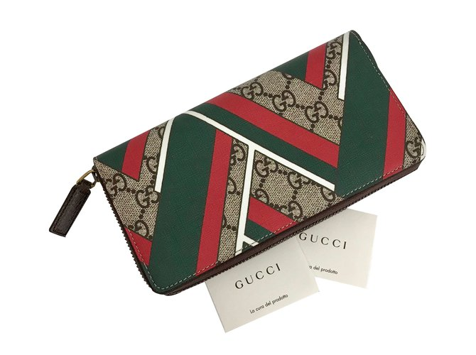 826a2668d9c Gucci Monogram GG New Wallet Wallets Small accessories Cloth Red ...