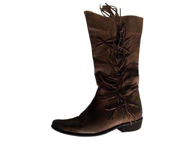 168bf13263e18 Vero Cuoio Boots Boots Leather Brown ref.87420 - Joli Closet