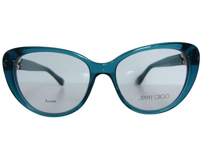 8d5a3dba5eb Jimmy Choo Sunglasses Sunglasses Plastic Blue ref.87493 - Joli Closet