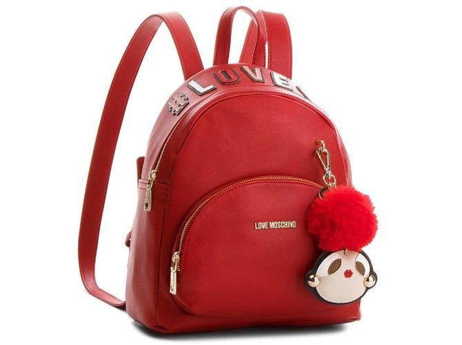 e600c56e50 Love Moschino Backpacks Backpacks Synthetic Red ref.87514 - Joli Closet