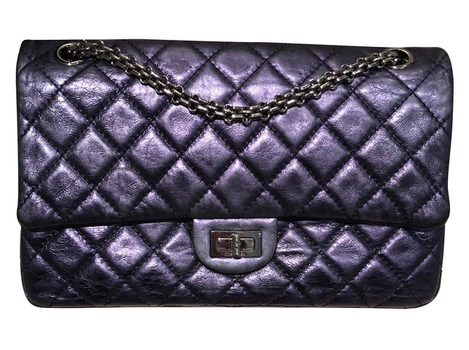 Chanel Reissue Handbags Leather Purple ref.87529