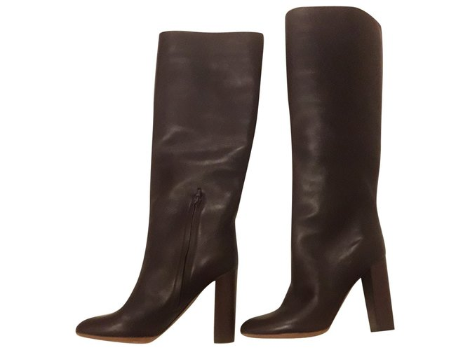 Chloé knee hight boots Boots Leather Brown ref.87582