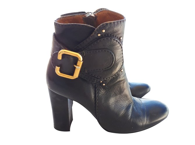 Chloé Ankle boots Ankle Boots Leather Black ref.87679