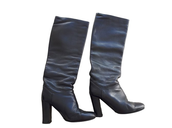 Chloé Boots Boots Leather Black ref.87680
