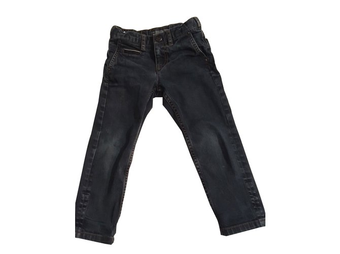 Bonpoint Jeans Pants Denim Dark blue ref.87845