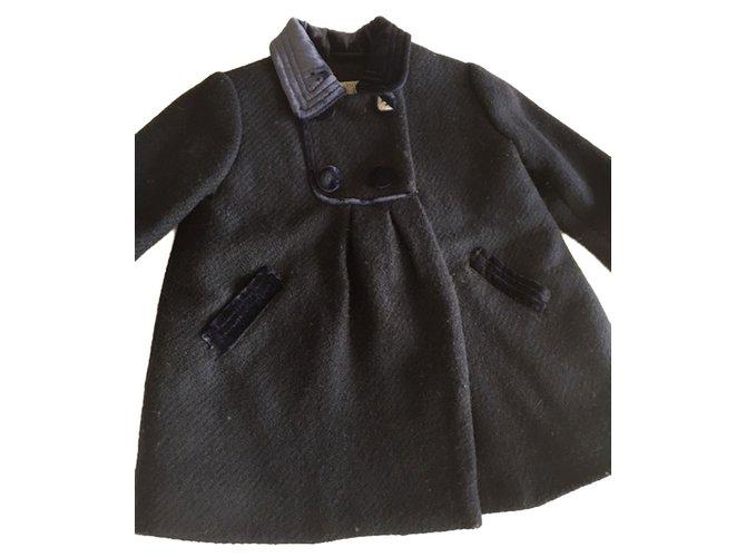 Blousons, manteaux filles Autre Marque Manteau Armani ligne enfant Laine Bleu Marine ref.87848